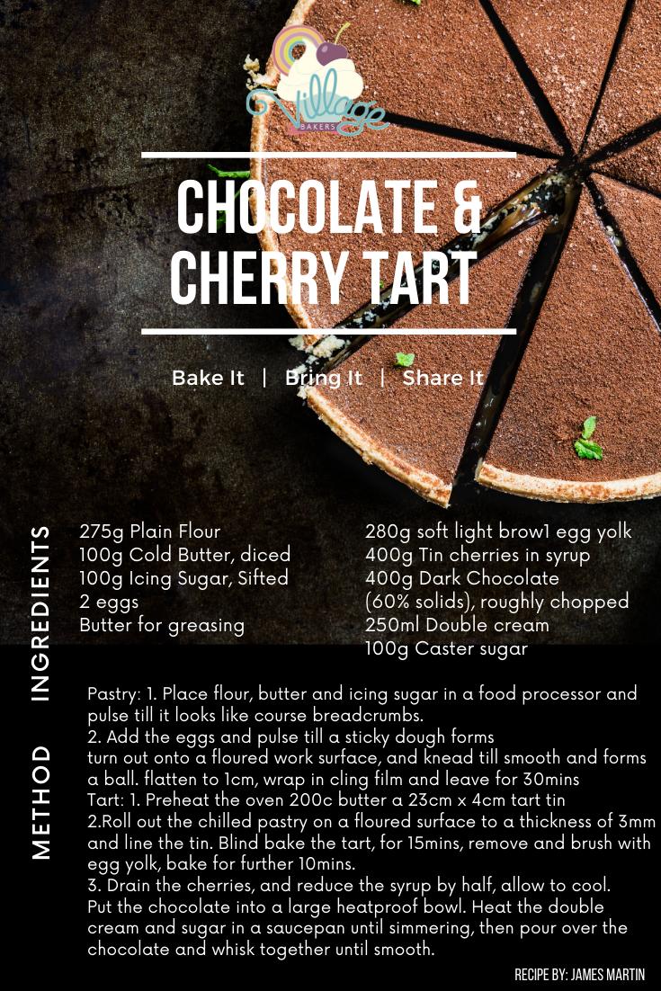 Choc Cherry Tart